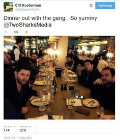 I'd love to have dinner with them <3