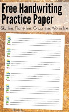 Letter writing is easy with this free lined paper printable! It's inspired by the Fundations style, with a sky line, plane line, grass line, and worm line. Kindergarten Handwriting, Handwriting Practice Worksheets, Free Handwriting, Kindergarten Writing, Handwriting Lines, Teaching Handwriting, Handwriting Activities, Vocabulary Activities, Preschool Worksheets