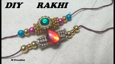 How to make beautiful RAKHI at home Rakhi Making, Make It Simple, Beaded Bracelets, How To Make, Beautiful, Jewelry, Jewlery, Jewerly, Pearl Bracelets