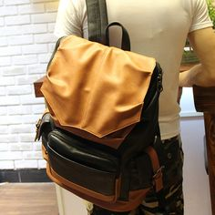 (55.00$)  Watch now - http://aie6j.worlditems.win/all/product.php?id=32762381935 - The winter 2016 new men's Korean leisure backpack computer college campus space free shipping