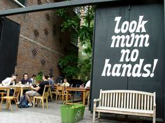 cycle cafe in London Look Mum No Hands