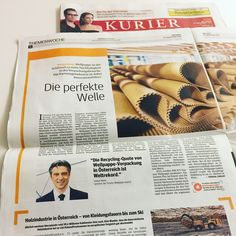 Die perfekte Welle. KURIER. Forum Wellpappe Austria. Recycling, World Records, Waves, Packaging, Repurpose, Upcycle