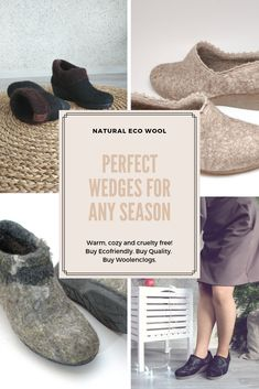 Cozy natural from wool. Your feet will be happy whatever you do. These are by me and my husband and nothing stronger than olive oil soap and hot water is used in the process. We deliver them in packaging with no plastic Felt Boots, Hygge Life, Shoemaking, Felted Slippers, Warm Blankets, No Plastic, Felted Wool, Wedge Boots, Lithuania