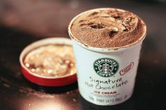 Hot Chocolate Ice Cream. Starbucks.