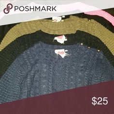 5 Cropped sweaters 5 Cropped sweaters all the same one Derek Heart Sweaters Crew & Scoop Necks