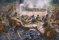 Salerno The Allies invade southern Italy (Campaign) Military Art, Military History, Luftwaffe, Italian Campaign, Military Drawings, Ww2 Pictures, Ww2 History, Red Army, North Africa