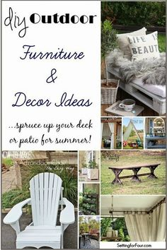 Diy Outdoor Furniture And Decor Ideas