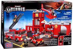 True Heroes Mega Bloks Set Fire Station True Heroes