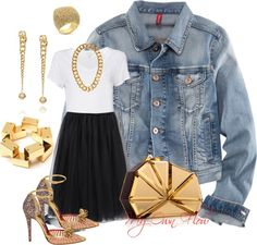 """THE DEMIN JACKET"" by myownflow on Polyvore"