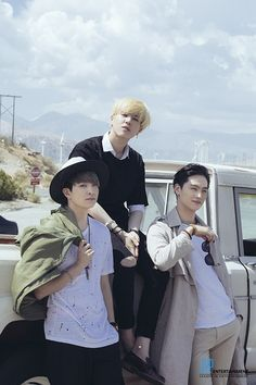 Youngjae, Yugyeom, JB  The omfg-so-fcking-hot line <3