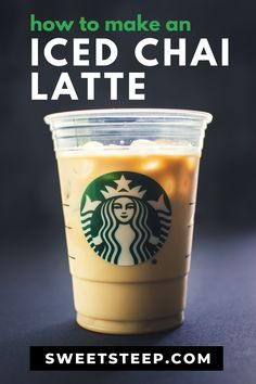 See how to make an iced chai latte and exactly what's in a Starbucks chai latte tea drink. Also, tips for homemade masala chai concentrate (spiced tea). Starbucks Iced Chai Tea Latte Recipe, Iced Chai Latte Recipe, Starbucks Tea, Starbucks Recipes, Iced Latte, Iced Tea, Iced Coffee, Coffee Drinks, Masala Chai