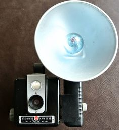 Vintage Brownie Camera, Brownie Hawkeye Camera, Retro Kodak Camera, Flash Attachment with Bulb, 620 Film Camera, Bakelite Camera
