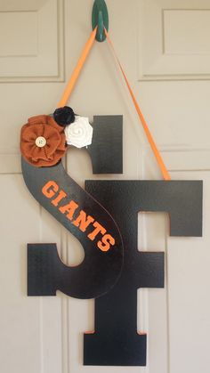 San Francisco Giants Team Door Hanger by AthenasPaintCan on Etsy