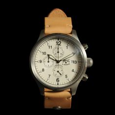 il bisonte Chronograph Watch with Natural Wristband | mens watch | mens style | mens fashion | menswear | wantering http://www.wantering.com/mens-clothing-item/chronograph-watch-with-natural-wristband/kPjA87/