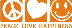 Peace Love Happiness Car Decal Sticker