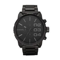 Diesel herren armbanduhr xl franchise 51 schwarz dz4207