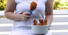 Coxas de frango crocantes assadas! Hummm