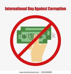 International Day Against Corruption. December 9. Vector illustration for your design, card, banner, poster and calendar