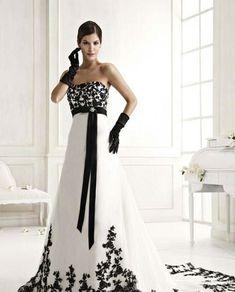black and white wedding dresses - Black and White Wedding Dress  ...