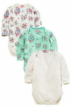 Buy Three Pack Mint Cat Floral Short Sleeve Body (0mths-2yrs) from the Next UK online shop