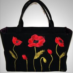 Poppies tote from Bella Iza Bags.
