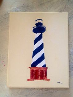 Lighthouse acrylic painting on canvas by chippingpaint Acrylic Painting For Kids, Diy Painting, Canvas Crafts, Canvas Art, Paradise Quotes, Auction Ideas, Light House, Dorm Ideas, Painting Lessons