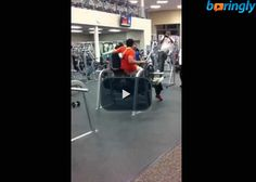 Guy tries to bench press with 2 guys sitting on the bar and fail #funnyvideos #funny #fun
