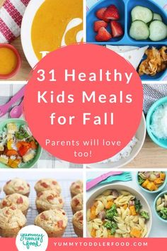 Easy & Healthy Family Recipes. Feed your family healthy, delicious meals with this kid-friendly and parent-approved meal plan. Kids love these dinner ideas and I have organized an easy meal planning guide for fall to make your family dinners a breeze. #ToddlerFood #FamilyDinner #FamilyMealIdeas #MealPlanning