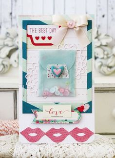 """""""Enjoy Today"""" Card by Melissa Phillips, via Lilybeanpaperie."""