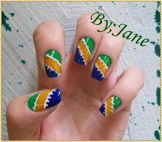 Mais modelos de unhas decoradas para a Copa e um tutorial