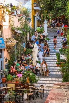 Athens, Greece - August People dining outside on the. Athens, Greece - August People dining outside on… Lonely Planet, The Places Youll Go, Places To See, Like A Local, Paros, Greece Travel, Greece Trip, Crete Greece, Attica Greece