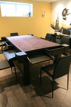 Mesa incrível feita para boardgames. Vale ver o link com todo o processo. The NTC Table - The Process - Imgur