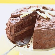 sour cream chocolate layer cake