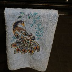 Machine Embroidered Kitchen Towel by HeartSongCreativeExp on Etsy, $15.00 Beautiful Housewarming Gift Idea!