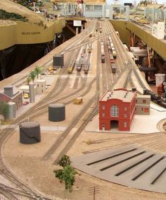 Elements of a Model Railway Layout. if Xander likes trains and we had our own yard I would totally do this for him