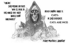 Post with 0 votes and 1702 views. Cats are Nice. Terry Pratchett Discworld, Literary Quotes, Book Series, Trending Memes, Funny Jokes, Thoughts, Sayings, Nice, Books