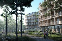 Gallery of Kjellander Sjöberg Designs Four Cross-Laminated Timber Blocks to Enrich the Uppsala Cityscape - 1