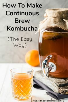 batch brew – which is best? There are some distinct advantages of continuous brew kombucha over batch brew. Learn how and why I use the continuous brew method. Kombucha Flavors, Kombucha Scoby, How To Brew Kombucha, Kombucha Recipe, Make Your Own Kombucha, Coffee Kombucha, Raw Food Recipes, Healthy Recipes, Coffee Recipes