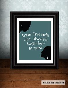 TRUE FRIENDS Best Friend Gift Long by JaneAndCompanyDesign on Etsy