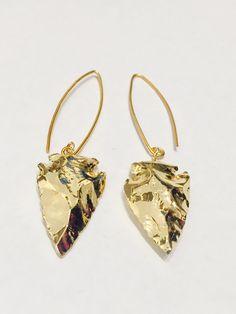 Gold Plated Arrowhead Earrings