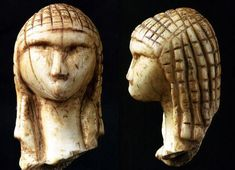 The Venus of Brassempouy or La Dame de Brassempouy, a fragmentary ivory figurine from the Upper Palaeolithic, Gravettian industry, discovered in the Grotte du Pape at Brassempouy, France. Religions Du Monde, Art Pariétal, Paleolithic Art, Paleolithic Period, Ancient Goddesses, Art Antique, Art Premier, Mother Goddess, Prehistory