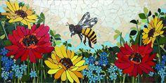 "Mosaic Mural ""The Queen"" by Jaton Mosaic Artwork, Mosaic Wall Art, Mosaic Glass, Mosaic Tiles, Glass Art, Stained Glass, Mosaic Crafts, Mosaic Projects, Mosaic Designs"