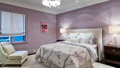 the best purple paint colours by benjamin moore include mauve desert as a medium toned romantic choice for bedrooms