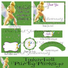GRAND OPENING SALE 25 off  Tinkerbell party by PixieDustStationary, $15.00