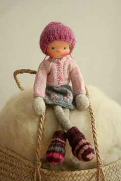 Waldorf doll, Soft doll, Knitted doll Gudmunda rag doll, handmade doll by Peperuda dolls Mohair Yarn, Wool Yarn, Arne And Carlos, Knitted Animals, Waldorf Dolls, Sheep Wool, Knitted Dolls, Soft Dolls, Long Legs
