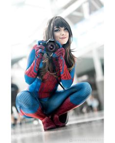 Cosplay Costume I am so in love with this shot. Like holy shit. This is so beautiful! I can't wait to get more shots of this suit! ALSO HAPPY HALLOWEEN… - Spider Girl, Spider Women, Amazing Cosplay, Best Cosplay, Female Cosplay, Cosplay Outfits, Cosplay Girls, Cosplay Marvel, Spiderman Cosplay