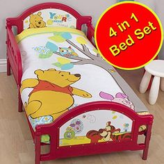 Winnie the Pooh Forest JuniorToddler Panel Duvet Cover  Duvet  Pillow -- To view further for this item, visit the image link.