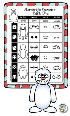 Abominable Snowman Roll & Draw from Expressive Monkey