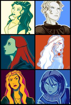 Ladies from Game of Thrones!!! All color schemes are from Rozzer's Colour Scheme Challenge