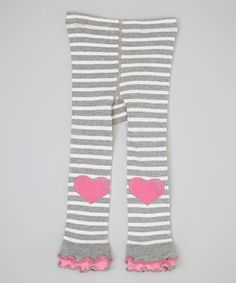 Look what I found on #zulily! Gray Stripe Heart Footless Tights - Infant, Toddler & Girls by Naartjie Kids #zulilyfinds